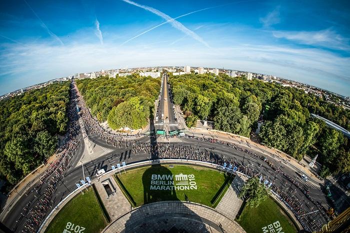 Berlin Marathon 2018 von oben