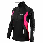 TCA Winter Run Damen Laufshirt mit kurzem Reißverschluss