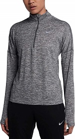 Nike W NK Dry Element TOP HZ Damen Langarm Laufoberteil