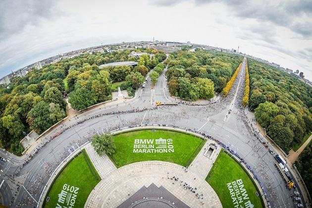 Berlin Marathon 2019 Luftbild