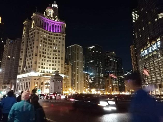 Chicago marathon am Morgen
