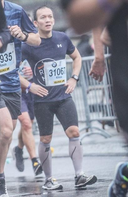 Khoa beim Berlin Marathon 2019