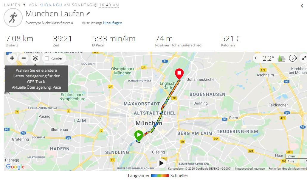 Garmin Forerunner 45 Tracking