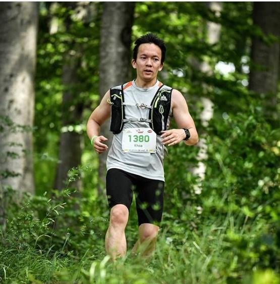 Khoa Nguyen in Laufaktion